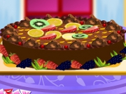 Barbie Chocolate Pie Deco