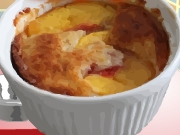 Bellas Peach Basil Cobbler