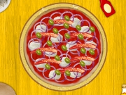 Cooking Hot Pepperoni Pizza