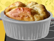 Apple Cheddar Cheese Souffles