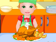 Baby Juliet Thanksgiving Dinner