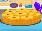 Elsa Upside Down Pineapple Cake