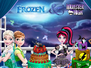 Frozen and Monster High Cake Decor