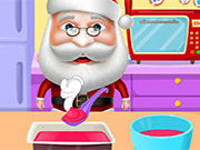 Santa Cooking Red Velvet C...